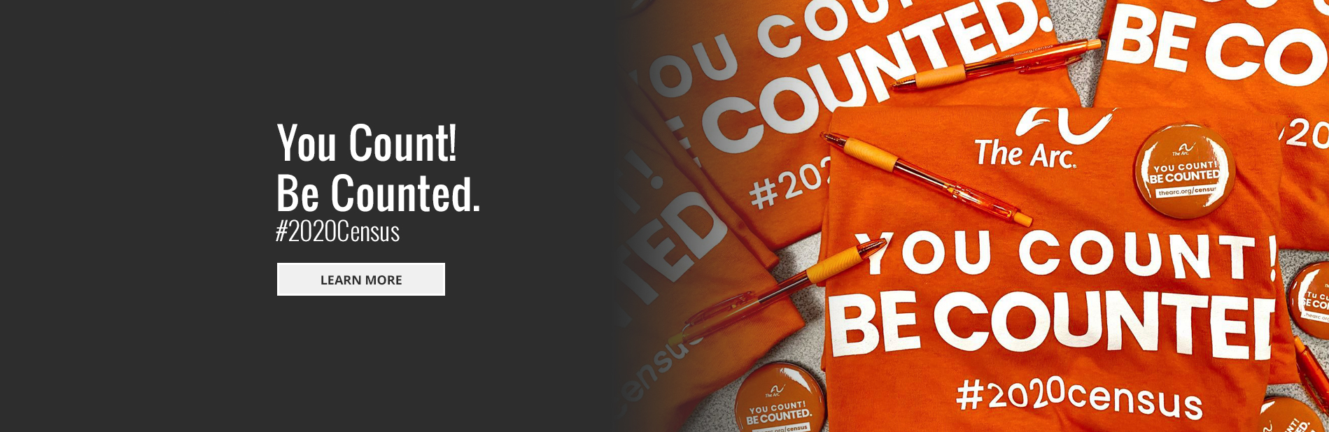You Count! Be Counted. #2020Census - Follow the link to learn more!