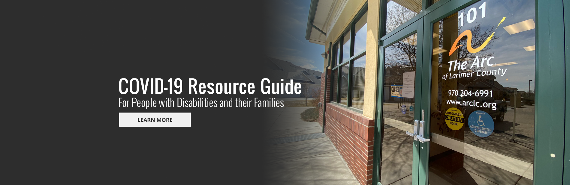 COVID-19 Resource Guide For People with Disabilities and their Families - Follow the Link to Learn More